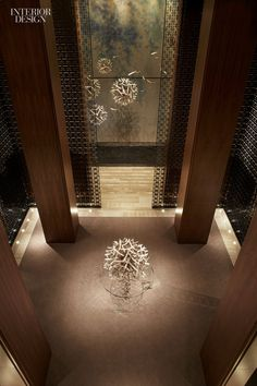 Toronto-based design firm Yabu Pushelberg's design for the new Four Seasons Hotel Toronto was inspired by a dandelion, as seem here in the dramatic lobby installation.