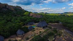 Aerial view of our luxury safari lodge.