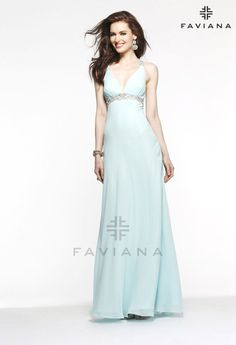 Faviana 6120 Beautiful #faviana #gown perfect for #prom or #nightout. Comes in multiple colors. #dress #cocktail #beautiful #evening #spring #ballgown #2014
