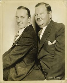 WHEN I WAS YOUNG THEY WERE ON T.V ALL THE THE TIME  Stan Laurel and Oliver Hardy