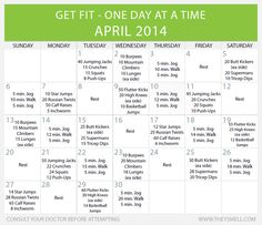 Get fit in 2014 – Daily Beginner Workout Plan for April • Healthy Lifestyle Chicago Area Mom Blogger