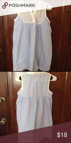 Adorable Free People tunic. Free People. Worn once. XS. Blue and white striped, white collar. Tunic or dress. Free People Tops Tank Tops