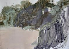 Mystery Bay, recent quick Plein air. Love this place. Landscape Drawings, Abstract Landscape Painting, Watercolor Landscape, Abstract Watercolor, Landscape Art, Landscape Paintings, Watercolor Cards, Contemporary Abstract Art, Contemporary Landscape