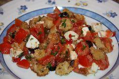 Tentações Sobre a Mesa: Salada Bruchetta - Panzanella