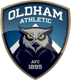 Oldham Athletic Buho Logo, Skull Wallpaper Iphone, Premier League Logo, British Football, Crests, Football Team, Team Logo, Athletic, Badges