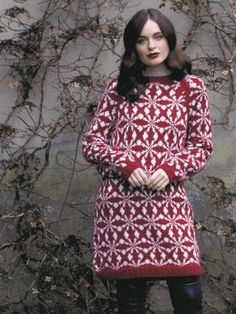 Knitting pattern for a statement stranded colour-work dress with long sleeves, large design 'print' and raglan shaping. See our great prices and fast service. Knitting Patterns, Crochet Patterns, Autumn Theme, Autumnal, Rowan, Print Design, Knit Crochet, Turtle Neck, Dresses For Work