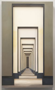 From ShanghART, Yang Zhenzhong, Passage No 8 Installation, 200 × 120 × 34 cm - architecture Architecture Details, Interior Architecture, Hotel Corridor, Lighting Design, Illusions, Entrance, Fine Art, Wallpaper, Decoration