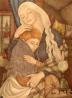 Adrienne Segur Fairy Tale illustrations (The Fairy Tale Book and others) Mother And Child Reunion, Photo D Art, Baba Yaga, Children's Book Illustration, Illustration Children, Book Illustrations, Botanical Illustration, Wonderland, Fairytale Art