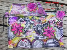 * Rubber Dance Blog *: Mixed media art journal page tutorial