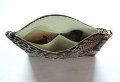 A N I M A L Large Make Up Bag Clutch Ivory and by GiftShopBrooklyn, $88.00