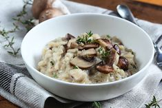 This mushroom and black garlic risotto recipe is the perfect comfort food. Black garlic adds that perfect savory, sweet flavor to pair with the sharp cheeses and rich arborio rice. Get the recipe and spices needed here at The Spice House today! Garlic Mushrooms, Stuffed Mushrooms, Stuffed Peppers, Vegan Mushroom Risotto, Arborio Rice, Black Garlic, Slow Food, Couscous, Healthy Recipes