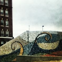 Mural in downtown Waterville, Maine.  A block from our house. :)
