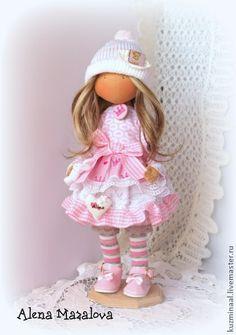 Men handmade.  Fair Masters - Textile handmade doll ALINA.