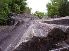 Kelley's Island Glacial Grooves | Atlas Obscura.  I personally got to walk on these when helping to clean them several years ago.