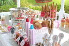 Ice Cream Sundae Party – The Mamanista Dessert Party, Party Desserts, Dessert Table, Ice Cream Buffet, Ice Cream Desserts, Ice Cream Wedding, Ice Cream Party, Sundae Bar, Ice Cream Sunday Bar