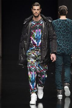 Top and Pants by John Richmond Fall 2015 Menswear