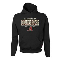 Arizona Diamondbacks Stitches Youth Property Of Team Hoodie - Black