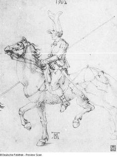 Albrecht Dürer  Reiter mit Lanze