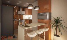 Proyecto J + L: Cocinas de estilo Moderno por GarDu Diseño + Construcción