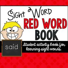 FREE Red Word Book. Perfect printables for Orton-Gillingham Phonics Instruction.