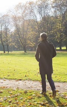 my father on an autumn stroll