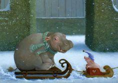 Zwei im Schnee | Fantastik | nach Themen | Postkarten | Inkognito