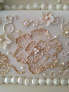 Brush Embroidery Royal Icing Piping Sugar Flowers