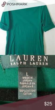 Ralph Lauren top Used only twice. Great condition and lovely green color! Ralph Lauren Tops