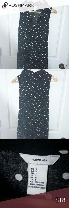 I love hb1 Sleeveless 👗 Cool hi/low Black and White Polka Dots!! Great summer dress. EUC I love hb1 Dresses Mini