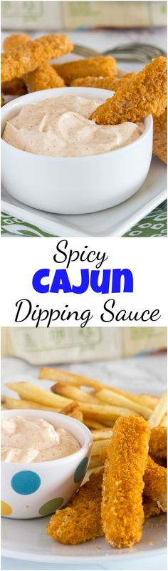 Spicy Cajun Dipping Sauce - this makes a great dip crunch fish sticks, topping f. Spicy Cajun Dipping Sauce - this makes a great dip crunch fish sticks, topping for burgers, or even just a dip with chips. Perfectly creamy with a little kick! Cajun Recipes, Dip Recipes, Side Dish Recipes, Casserole Recipes, Easy Dinner Recipes, Crockpot Recipes, Easy Meals, Cooking Recipes, Cajun Food