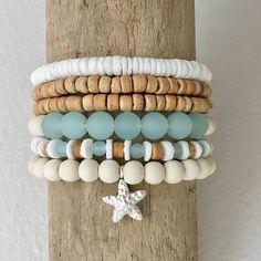 >>>Pandora Jewelry OFF! Beach Bracelets, Summer Bracelets, Cute Bracelets, Gemstone Bracelets, Handmade Bracelets, Handmade Jewelry, Lava Bracelet, Shell Jewelry, Beach Jewelry