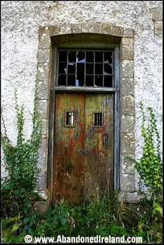 Love the texture and colors on this door in a abandoned workhouse in Ireland