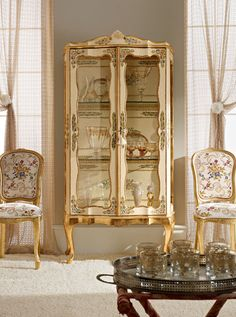 Italian Luxury Dining Room Wood Furniture Andrea Fanfani Display Cabinet