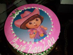 Dora Bday cake for little girls
