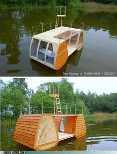Homebox 1 portable three story tiny house very interesting for Movable floating deck
