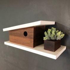Floating Nightstand, Floating Shelves, Modern Birdhouses, Bird Houses, Reception, Instagram, Home Decor, Floating Headboard, Decoration Home