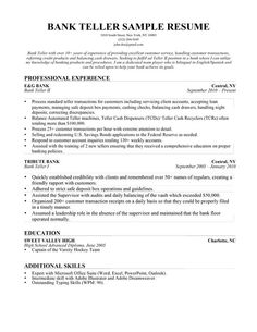 Bank Teller Resume With No Experience  HttpWwwResumecareer