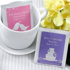 pack of 30 personalised tea bag favours by hope and willow | notonthehighstreet.com