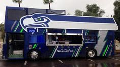 Watch the video The ultimate fan bus at the Super Bowl on Yahoo Sports . A Seattle Seahawk fan has transformed an old British double-decker bus into a sports man cave on wheels.