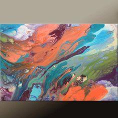 Lona lona de pintura de arte abstracto pintura contemporánea moderna Original 36 x 24 por destino Womack - degree - el camino al cielo