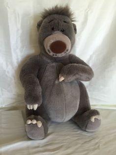 "Jungle Book Plush Baloo Bear Stuffed Animal Medium 18"" Vintage Disney Parks"