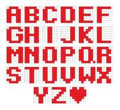 patrones para hacer pulseras de hilo con nombre - Buscar con Google Fair Isle Knitting Patterns, Bead Loom Patterns, Beading Patterns, Stitch Patterns, Jewelry Patterns, Knit Bracelet, Bead Loom Bracelets, Letter Patterns, Alpha Patterns