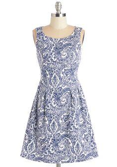 Dew You Believe in Magic? Dress in Paisley   Mod Retro Vintage Dresses   ModCloth.com