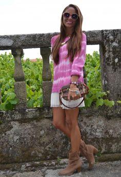 dip dye pullover Sweater,  fashion tie dye round neck  Pullover, pink sweater #tie #dye #pullover #sweater www.loveitsomuch.com