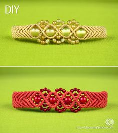 Wavy Chevron Bracelet with Beads  #Beaded #Macrame #Bracelet #Tutorial