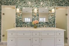The luxurious master bath and bedroom in a 1940's Dallas, Texas home was a recent project by Redo Remodeling + Construction, and it's left me antsy to finally start on our master bath! …