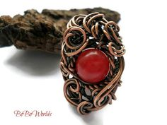 Hey, I found this really awesome Etsy listing at https://www.etsy.com/listing/509314200/red-agate-copper-wire-ring-gypsy-rings