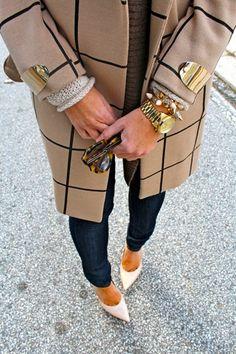 Plaid and hardware that's my kinda coat!