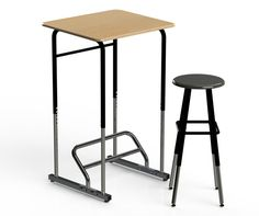 Standing Desks Are Coming To Schools, To Cure Obesity And Increase Attention Spans First they infiltrated our offices, and now they're coming for our kids. Classroom Furniture, School Furniture, Classroom Design, Classroom Decor, Standing Desk Benefits, Posture Fix, Bad Posture, Student Desks, School Desks