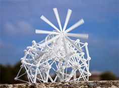 Artist Theo Jansen has created several printed models of his famous walking sculptures called Strandbeests. There are currently four different models and two alternate propeller attachments for added Strandbeest goodness. Available over at Shapeways. 3d Printed Objects, Cheap Pendant Lights, Colossal Art, Kinetic Art, 3d Prints, Dutch Artists, Cool Pictures, Creative, Printing